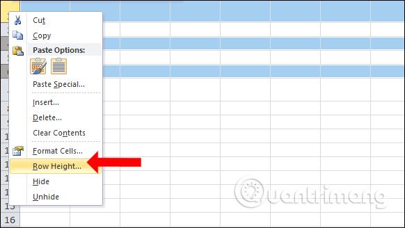 cách giãn dòng Excel