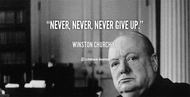Không bao giờ từ bỏ