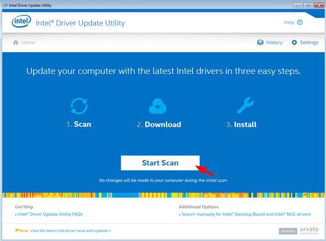 chọn Start Scan