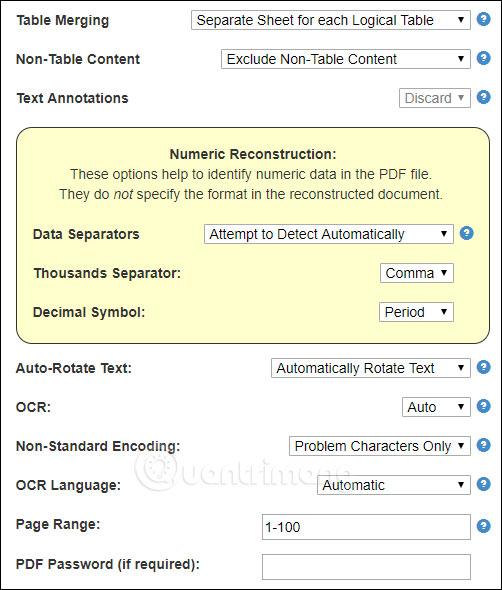 Cách chuyển đổi file PDF sang Excel