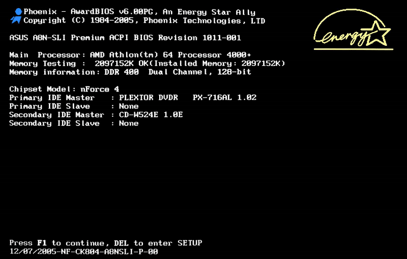 Sử dụng Menu BIOS để reset thiết lập BIOS