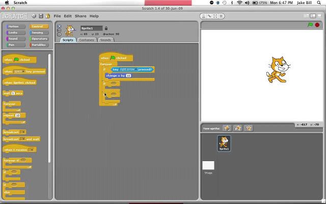 Phần mềm làm phim hoạt hình Scratch 1.4
