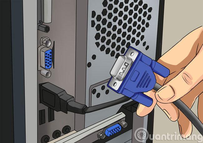 Nối màn hình thứ hai vào máy tính bằng dây cáp