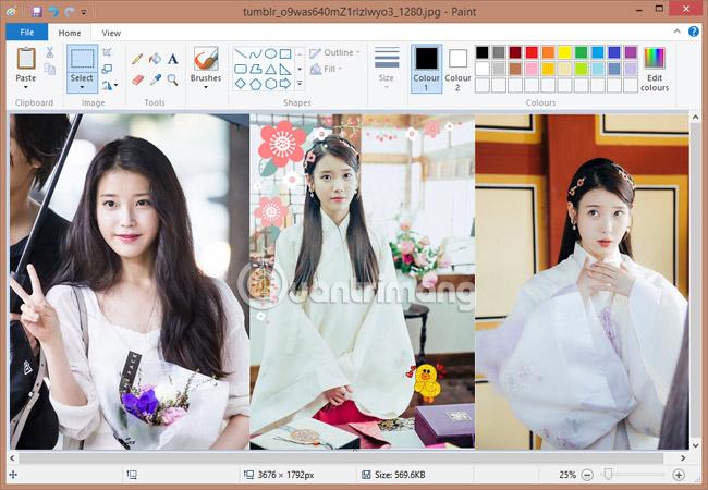 ghép ảnh đơn giản trên Microsoft Paint