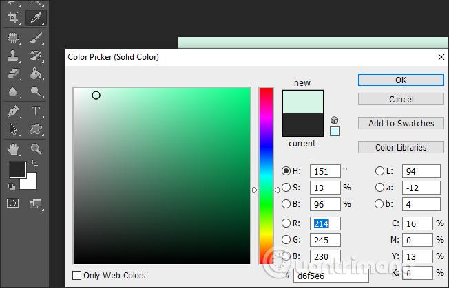Chọn gam màu sắc