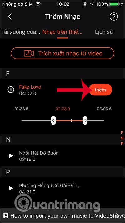 Thêm nhạc vào video