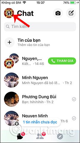 Giao diện Messenger