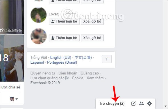 Khung chat Facebook