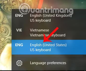 Chuyển đổi kiểu gõ bàn phím English US
