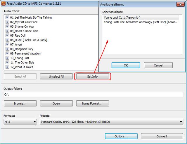 Phần mềm CD to MP3 Converter
