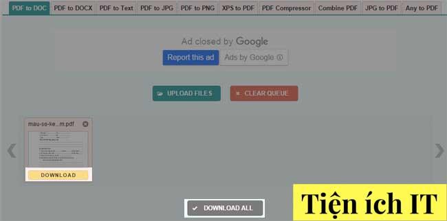 Hướng dẫn chuyển đổi pdf