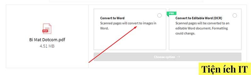 cách chuyển pdf sang file word