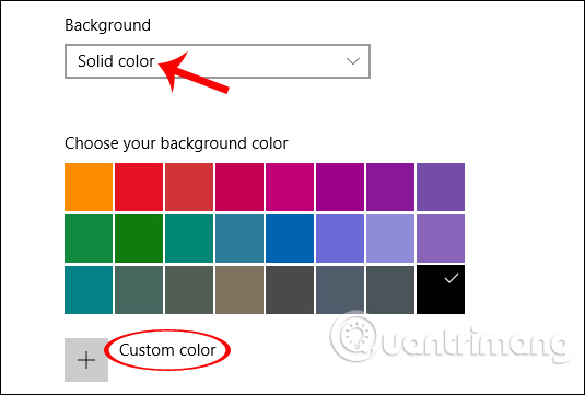 Đặt màu nền cho máy tính Win 10