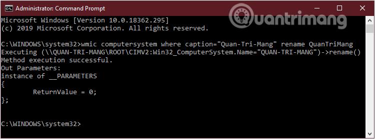 Đổi tên máy tính windows 10 bằng Command Prompt