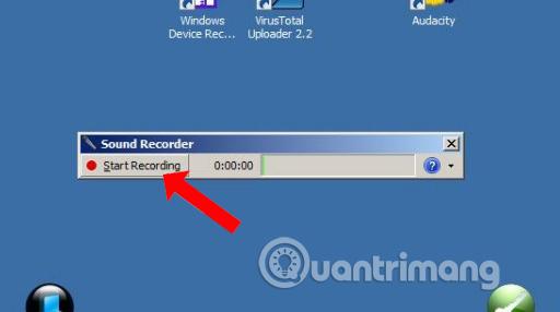Nhấn Start Recording