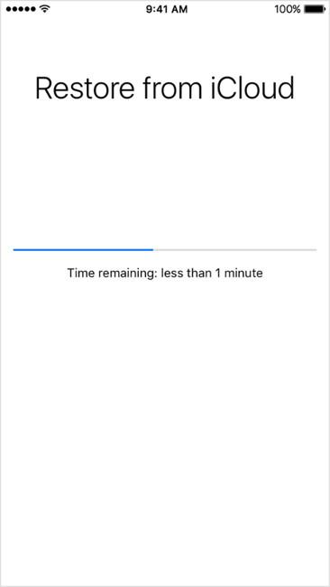 Chuyển dữ liệu sang iPhone mới bằng iCloud
