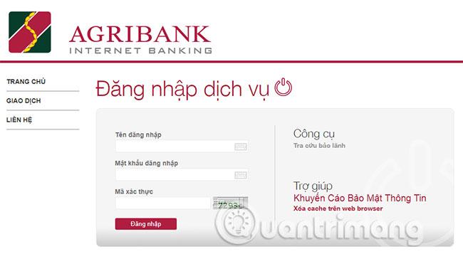 Kiểm tra số dư Agribank qua dịch vụ Internet Banking
