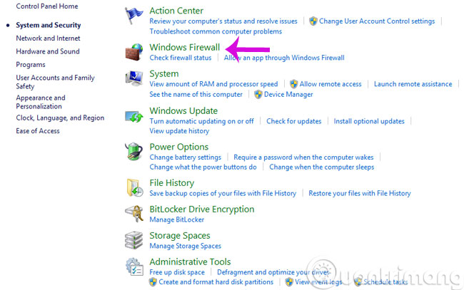 Click Windows Firewall