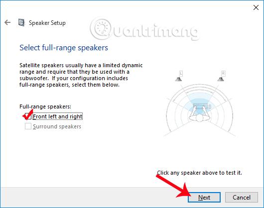 Select full-range speakers