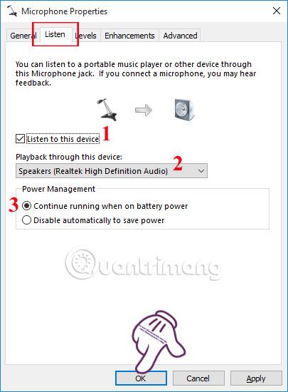 Kết nối Microphone với máy tính