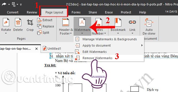 Nhấn chọn Remove watermarks
