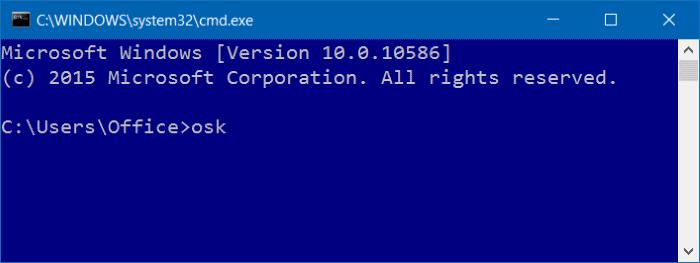 Mở bàn phím ảo thông qua Command Prompt hoặc PowerShell