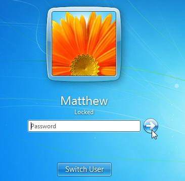 Nhập mật khẩu để sử dụng máy tính sau khi khóa màn hình