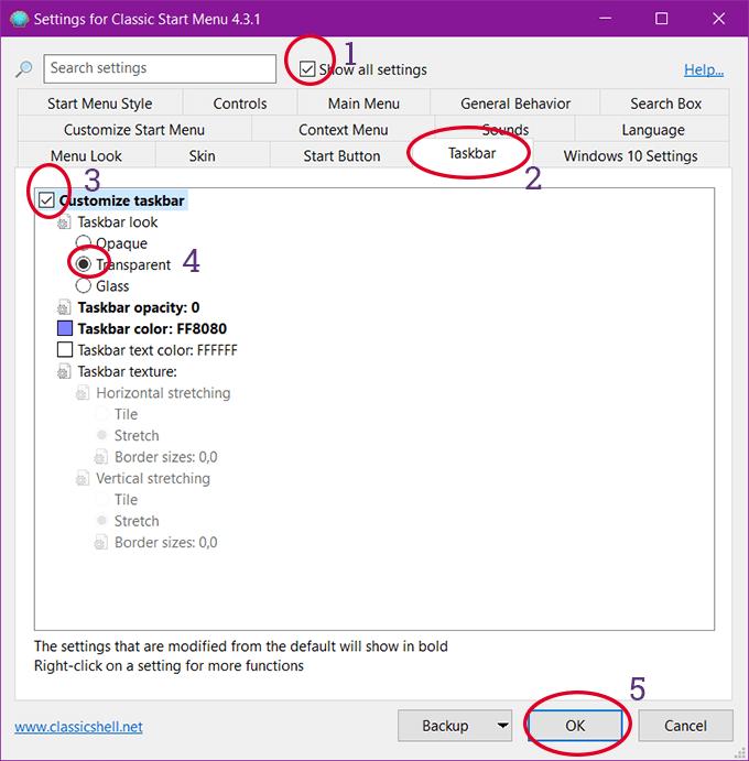Tùy chọn làm trong taskbar trên Windows 10