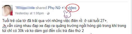 Lấy link video được chia sẻ
