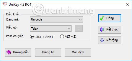 Kiểm tra Bảng mã và Kiểu gõ