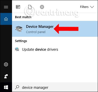 Tìm kiếm Device Manager