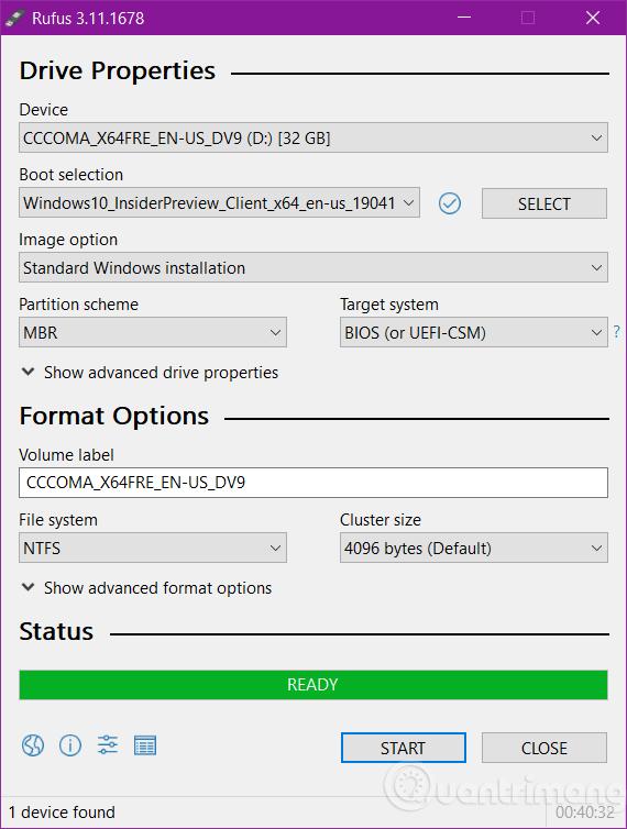 Quá trình tạo USB hoàn tất