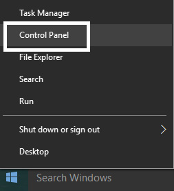 Chọn Control Panel