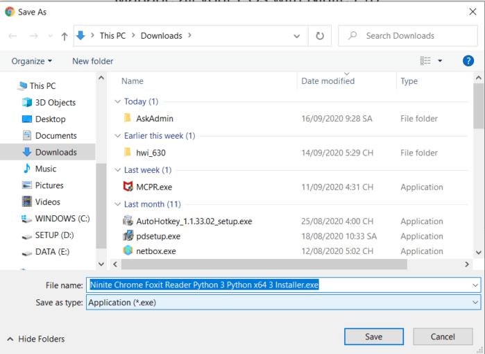 chạy file .exe và phần mềm sẽ được tự động cài đặt vào máy tính.