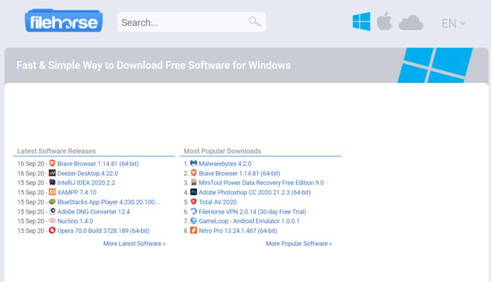 FileHorse là một trang web cũ nhưng rất hữu dụng để tải phần mềm Windows
