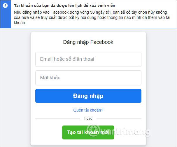 xóa facebook vĩnh viễn