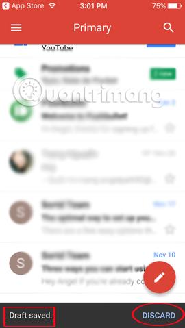 Thu hồi email trên Gmail iPhone/iPad