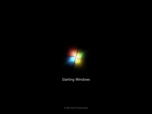 Màn hình Starting Windows 7