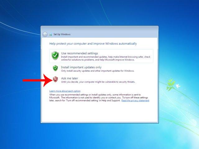 Các bước thiết lập trên Windows 7