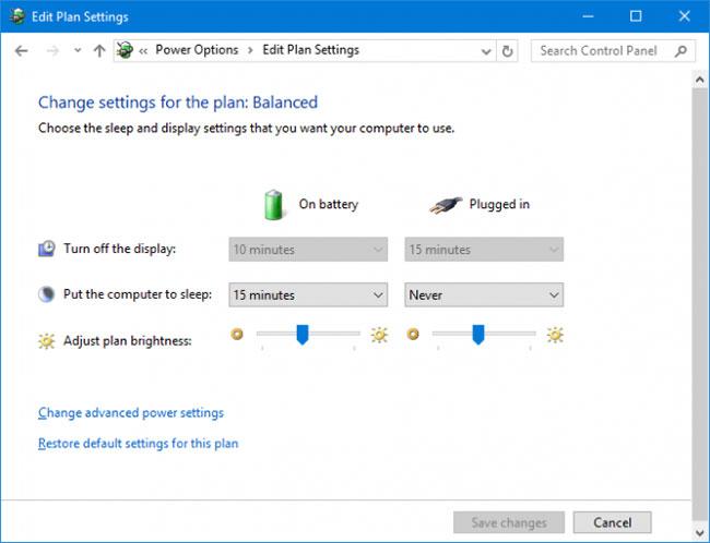 Sử dụng Control Panel để điều chỉnh độ sáng màn hình Windows 10