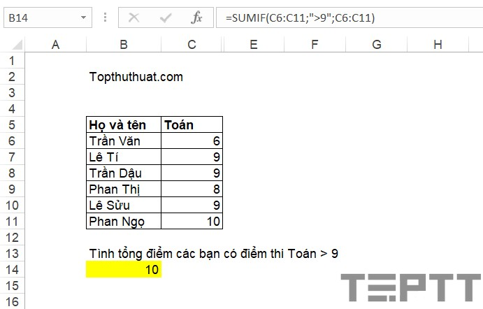 ham co ban trong excel