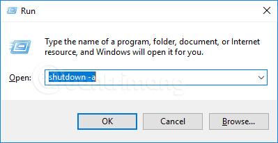Hủy lệnh hẹn giờ tắt máy tính