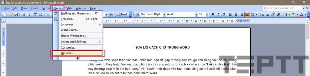 sua loi cach chu trong word 01